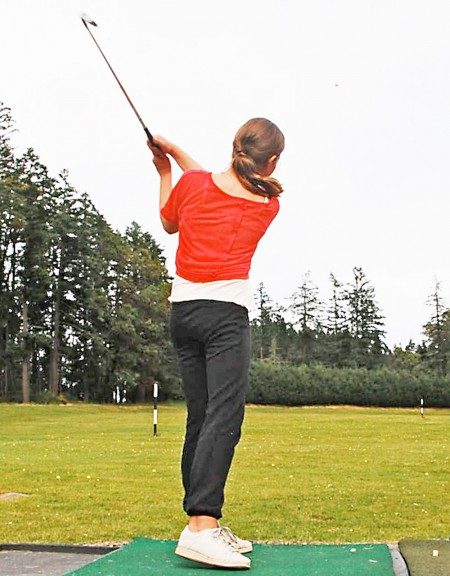 Taking a swing at the Salt Spring Golf Club driving range
