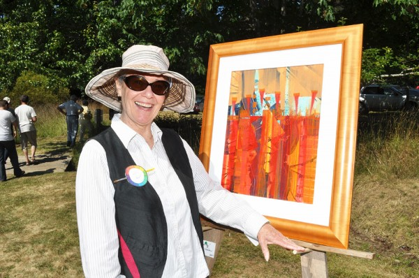 art off the fence, pender island